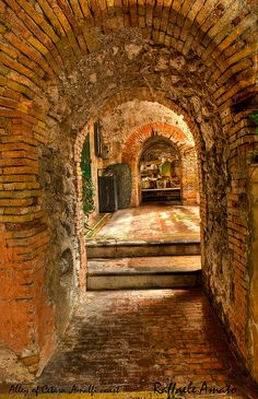 Alley of Cetara, Amalfi coast, Italy. Cetara is a town and commune in the Province of Salerno in the Campania region of south-western Italy.  Cetara is located in the territory of the Amalfi Coast.
