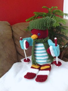 Huggable Holiday Penguin - This is the cutest crochet amigurumi I've ever seen. Our Mystery Crochet Along was a blast and you can make the pattern now, too.