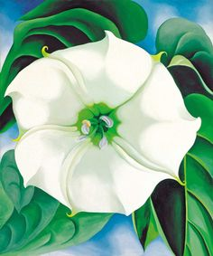 Georgia O'Keeffe, Jimson Weed, 1932. Oil on canvas, 48 x 40 inches