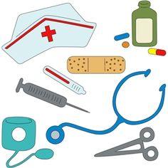 Silhouette Design Store - View Design #6731: nurses tools