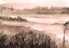 Nebbia in rosa  ----- SOLD