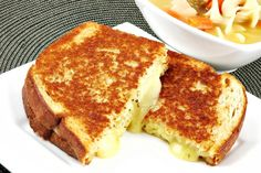 The Perfect Gourmet Grilled Cheese  truffle oil, mushrooms