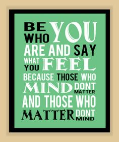 Dr Suess quote classic :)