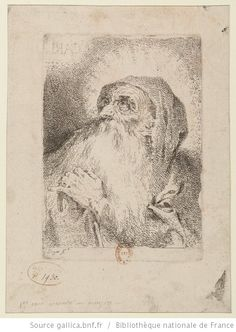 CARI[TAS] [San Francisco de Paula] : [estampe] ([Épr. d'état avec lettres inversées]) / Goya f.t - 1