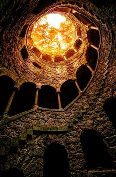 From the the well bottom of Quinta da Regaleira Sintra. Portugal. Photo by Mr Friks