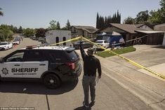 Next-door neighbor Cory Harvey watched as 30 FBI agents and other investigators combed thr. Next Door Neighbor, Golden State, Sacramento, California