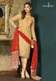 cd3471d097 Pakistani Fancy Dresses Asim Jofa Mysorie Chiffon Collection consists of  women best embroidered luxury suits