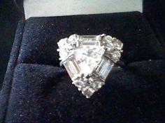 LCS DIAMOND TRILLION BAGUETTE ENGAGEMENT RING SZ 5 SZ 6 SZ 7 SZ 8 SZ 9 SZ 10  #EXCEPTIONALBUY