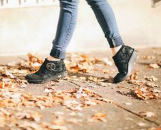 Caiti Black Beauty Ankle Boot by Alegria Shoes.  Now on closeout!