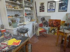 Norman Cornish Studio now at Spennymoor Town Hall Sunderland University, Norman Cornish, Newcastle University, Town Hall, Art School, Contemporary, Studio, Home Decor, Decoration Home