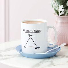 Personalised Love Triangle Mug
