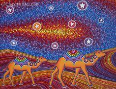 Wanderlust by Elspeth McLean #desert #camel #sanddunes #dotillism #elspethmclean