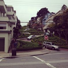 Lombard Street Lombard Street, See Through, San Francisco, Sidewalk, Street View, Spaces, Life, Instagram, Side Walkway