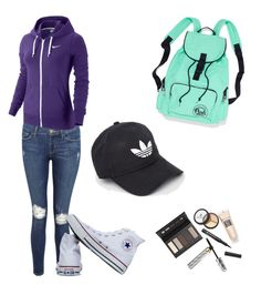 """Untitled #26"" by katrinawells on Polyvore featuring Frame Denim, NIKE, Converse, Borghese and adidas"