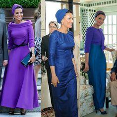 sheikhamozahfashion via royalroaster: Sheikha Mozah in Ralph & Russo couture