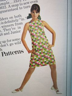 1960s Outfits, Lazy Outfits, Vintage Outfits, Vintage Clothing, 60s And 70s Fashion, Retro Fashion, Vintage Fashion, Colleen Corby, Fancy Kurti