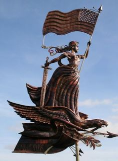 Lady Liberty Weathervane by Green's Vanes - http://www.greensvanes.co.uk