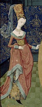 Harley 4376 quarter of c Medieval Fashion, Medieval Dress, Medieval Clothing, 15th Century Dress, 15th Century Clothing, Medieval Tapestry, Medieval Art, Renaissance, Medieval Paintings