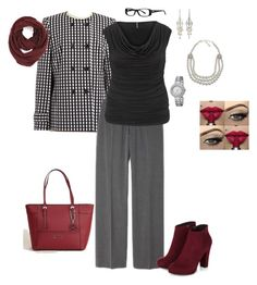 """Warming up for Winter"" by angie-ryherd-brown on Polyvore featuring Jones New York, maurices, Amrita Singh, NOVICA, GUESS, Harley-Davidson, Akribos XXIV and Paula Bianco"