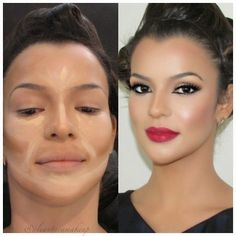 Makeup Contouring And Highlighting: What You Need To Know Contour Makeup, Contouring And Highlighting, Love Makeup, Makeup Ideas, Highlights, That Look, How To Make, 1, Online Web