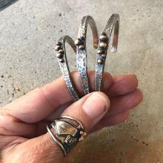 heavy gauge cuff with bronze
