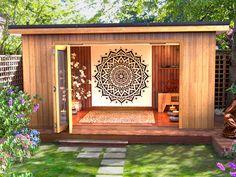 Yoga Studio Design, Yoga Room Design, Yoga Studio Home, Home Yoga Studios, Meditation Raumdekor, Meditation Room Decor, Yoga Room Decor, Yoga Dekor, Home Yoga Room