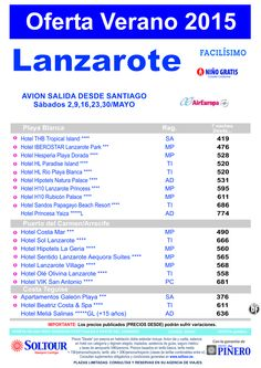 Oferta hoteles en LANZAROTE salidas desde Santiago de Compostela del 02 al 30 de Mayo ultimo minuto - http://zocotours.com/oferta-hoteles-en-lanzarote-salidas-desde-santiago-de-compostela-del-02-al-30-de-mayo-ultimo-minuto/