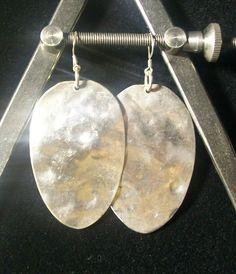 sterling silver spoon earrings