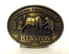 Gist Belt Buckle Limited Edition National Finals Rodeo Las