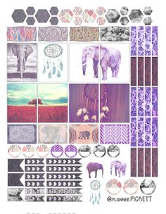 FREE @planner.PICKETT: Dreaming of BOHO free sticker printable