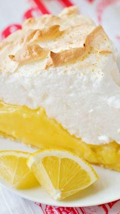 Lemon Meringue Pie ~ bursting with both fresh lemon juice and lemon zest... It's sweet, tart and topped with mile-high meringue!