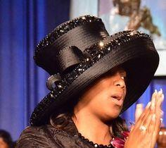 Fancy black hat.