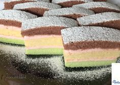 Photo Cake Bars, Hungarian Recipes, Confectionery, Diy Food, Vanilla Cake, Nutella, Cake Recipes, Food And Drink, Cooking Recipes