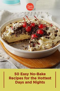 When the temperatures climb, skip the oven. These easy no-bake recipes let you have breakfast, lunch, dinner and dessert on the table in a snap—no oven required. Summer Desserts, Fun Desserts, Delicious Desserts, Yummy Food, Easy Baking Recipes, Tart Recipes, Keylime Pie Recipe, Best Sweets, No Bake Pies
