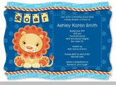 Lion Boy - Baby Shower Invitations With Squiggle Shape
