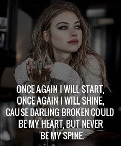 Tough Girl Quotes 58 Ideas For 2020 Tough Girl Quotes, Strong Mind Quotes, Positive Attitude Quotes, Good Thoughts Quotes, Badass Quotes, Woman Quotes, Happy Girl Quotes, Vie Motivation, Study Motivation Quotes