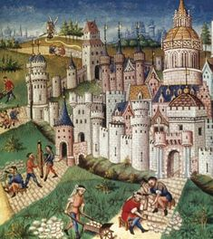 Life in the Middle Ages centered around a castle or manor.
