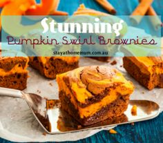 Stunning Pumpkin Swirl Brownies | Stay At Home Mum