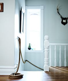 Nautical rope railing