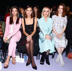 Sitting pretty: Emily Ratajkowski Alexa Chung Christina Ricci and Rose Leslie front row at Alztuarra's NY fashion week show  Getty Images  via INSTYLE AUSTRALIA MAGAZINE OFFICIAL INSTAGRAM - Fashion Campaigns  Haute Couture  Advertising  Editorial Photography  Magazine Cover Designs  Supermodels  Runway Models