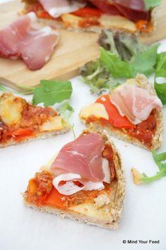 spelt havermout pizza - www.puursuzanne.nl