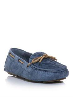 Intrecciato woven driving shoes   Bottega Veneta   MATCHESFASH...
