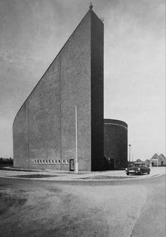 Catholic Church (1965-66) in Hesepertwist, Germany, by Theo Burlage