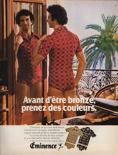 French vintage Mens Underwear fashion advertisement. i have to find some underwear with the matching t shirt