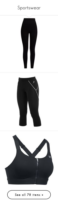 """""""Sportswear"""" by gisella-jb-pintos ❤ liked on Polyvore featuring pants, leggings, bottoms, jeans, trousers, black, tops, crop top, shirts and camisetas"""