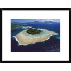 Global Gallery 'Coral Reefs and Islands' Framed Photographic Print Size: