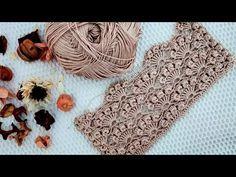 SİZDEN BU ÖRNEĞİ ÇOOOK İSTEYECEKLER❗😏😏NASIL DA ZARİFSİN? 📌📌 #bromstick #shellpattern #örgü #crochet - YouTube Crochet Motif Patterns, Baby Knitting Patterns, Crochet Designs, Bobble Stitch, Fabric Yarn, Crochet Videos, Crochet Fashion, Easy Crochet, Knit Crochet