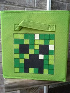 Minecraft Fabric Bin Storage by 3FeetTall on Etsy, $12.00