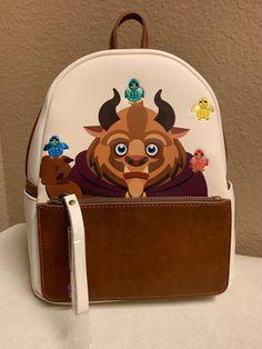 Disney Loungefly Beauty And The Beast Mini Backpack Brand New With Tag Disney Handbags, Disney Purse, Disney Nerd, Disney Girls, Cute Purses, Purses And Bags, Disney World Birthday, Disneyland, Billy Kid