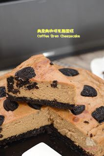 The Furry Bakers: 奥里奥咖啡乳酪蛋糕 Coffee Oreo Cheesecake Big Cakes, Oreo Cheesecake, Small Cake, Organic Recipes, Cheesecakes, Food Pictures, Sweet Tooth, Food Photography, Cooking Recipes